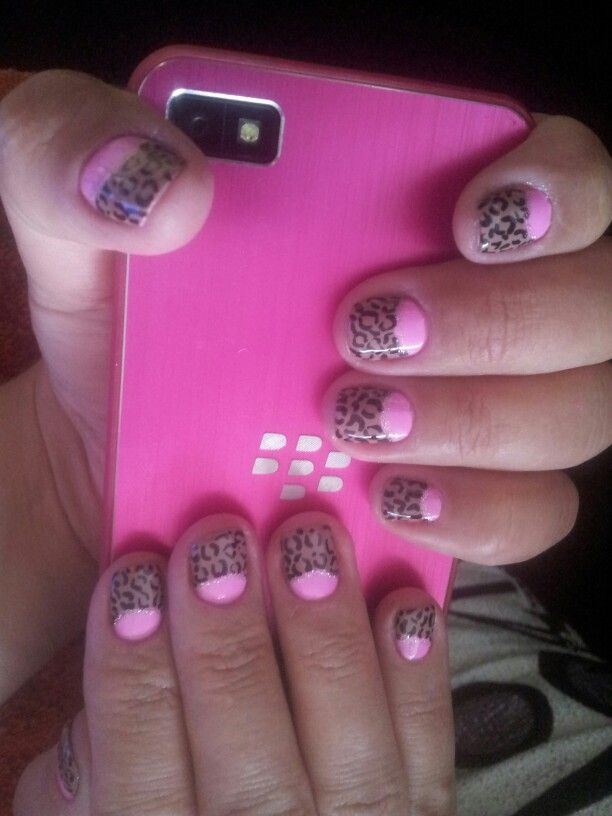 Decoraci n u as cortas con animal print unas pinterest - Unas decoradas con esmalte ...