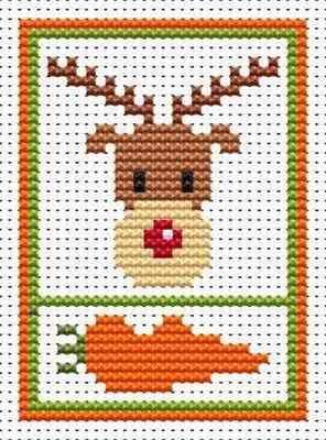 Sew Simple Rudolph cross stitch kit