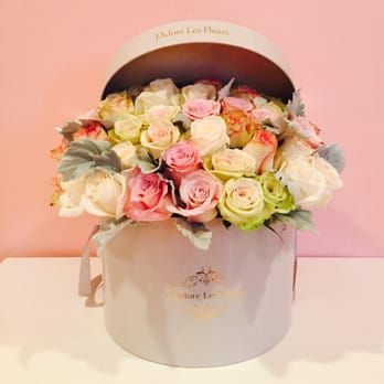 Square box with floral mix - Yelp