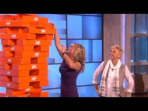 Best Game of #Jenga Ever? Check out Alison Sweeney playing Jenga XXL on The Ellen Show :)