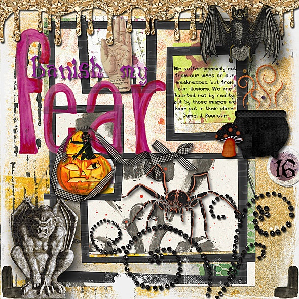 halloween art journal pages