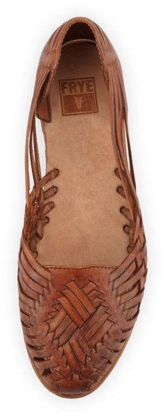 Frye Heather Huarache Sandal Cognac in Brown (COGNAC) | Lyst