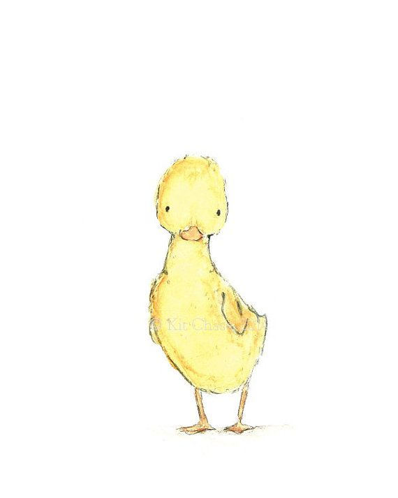 Children's Art DUCKLING Archival Print por trafalgarssquare, $10.00