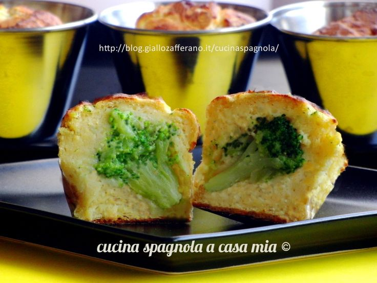 MUFFIN SALATI DI PURE DI PATATE CON CUORE DI BROCCOLI: blog.giallozafferano.it/cucinaspagnola/muffin-salati/
