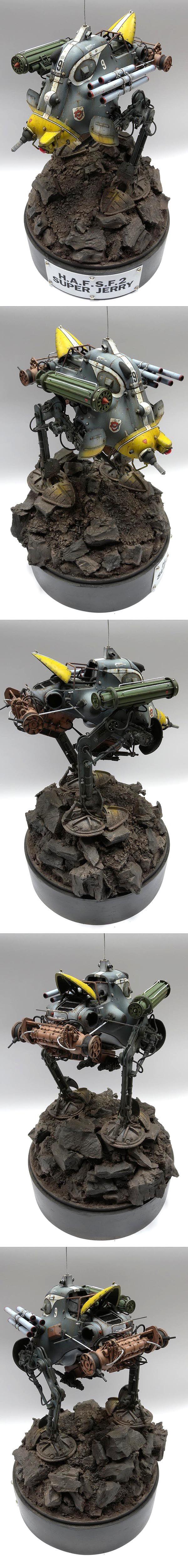WAVE Ma.K. 1/20 scale H.A.F.S. F.2 Super Jerry. By Lim Kian Guan. #Ma_K #Maschinen_Krieger