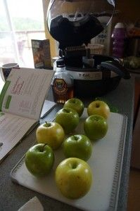 Glazed apples cooked in a actifry. Love Green Apples there amazing!!!