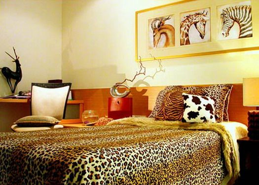 Animal Print Bedroom Interior Design With African Theme