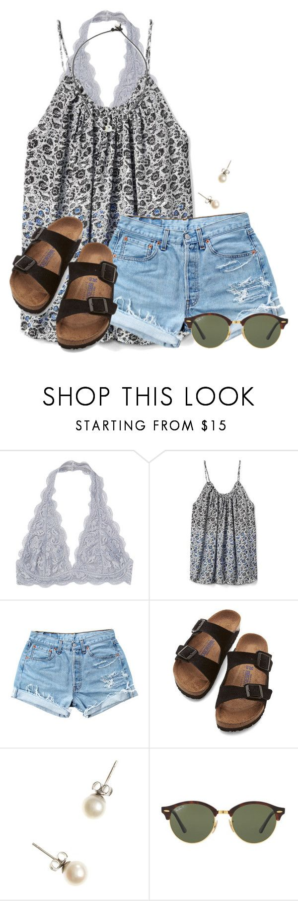 """Going dress shopping for my NHS ceremony"" by flroasburn ❤ liked on Polyvore featuring Gap, Levi's, Birkenstock, J.Crew and Ray-Ban"