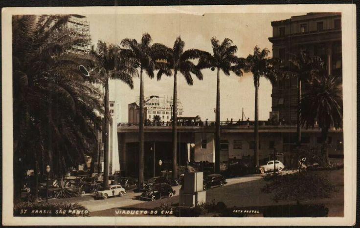 Cartão Postal Antigo São Paulo Sp Viaduto Do Chá - R$ 15,00 em Mercado Livre