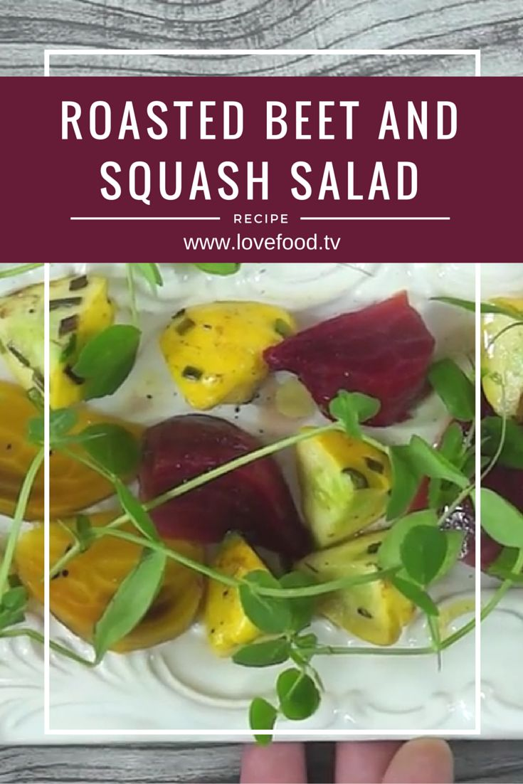 Roasted Beet and Squash Salad