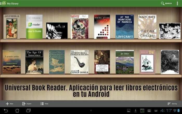Universal Book Reader. Aplicación para leer libros electrónicos en tu Android #apps #ebooksreader