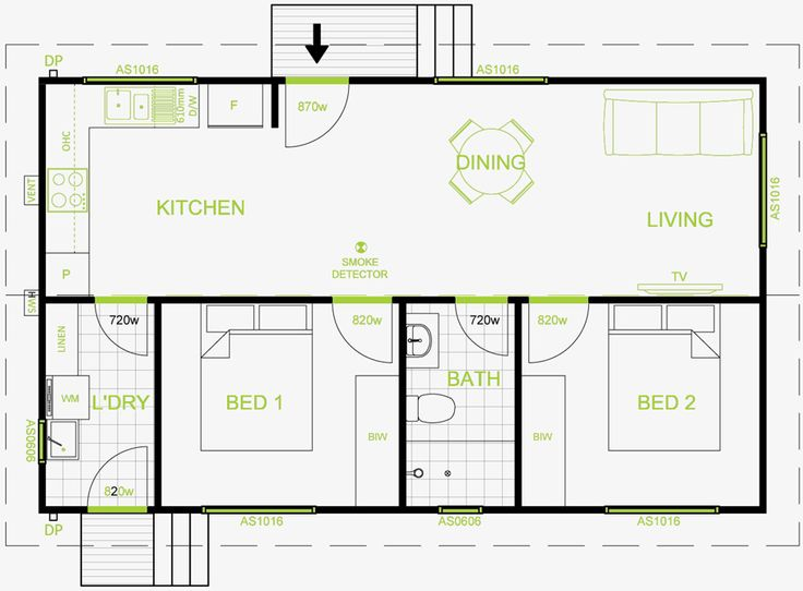 25 best ideas about granny flat plans on pinterest for Floor plans for 2 bedroom granny flats