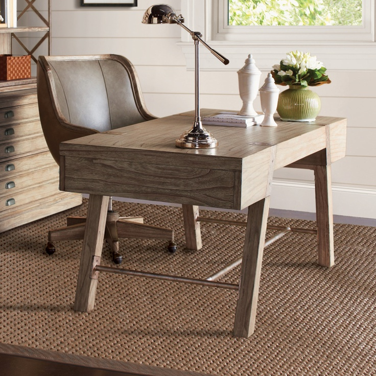 Wyatt Table Desk In Grey Weathered Oak Perfect For A Sea Side Home Office Or Bedroom