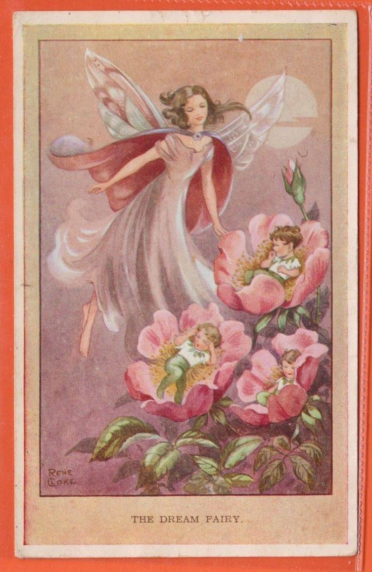 RENE CLOKE 1953 Pc Scrigno Fatato Baby Fairy Vintage