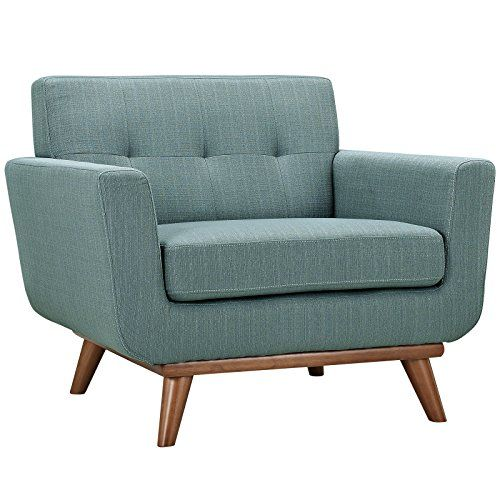 Modway Engage Mid-Century Modern Upholstered Fabric Armchair In Laguna