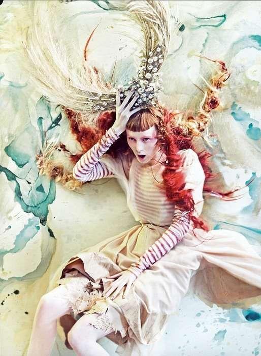 Watercolor Fantasy Couture - 'Pure Wonder' in Vogue Italia (GALLERY)