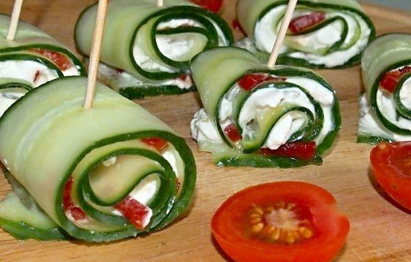 Recept na Okurkové rolky