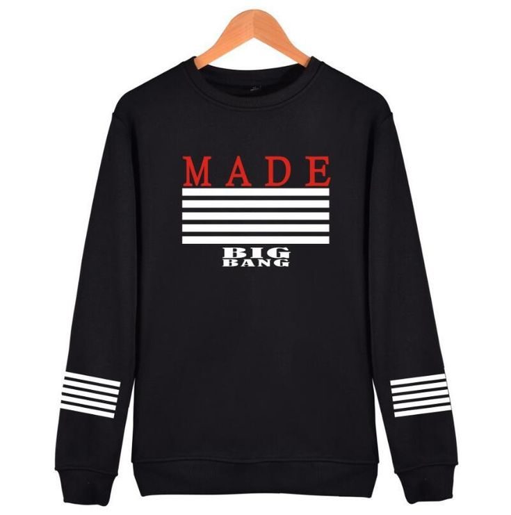 Find More Hoodies & Sweatshirts Information about For Women Sweatshirt KPOP Bigbang Hoodies Printed MADE Album Fleece Pullovers BTS Fans Clothing Hip Hop Winter Spring Sweatshirt,High Quality fleece pullover,China sweatshirt for woman Suppliers, Cheap winter sweatshirts from Sally's Fashion Store on Aliexpress.com