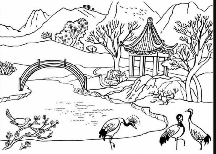 24 Gambar Pemandangan Flora Fauna Dan Alam Benda Pemandangan Top Banget Di 2020 Sketsa Gambar Flora Dan Fauna Buku Mewarnai