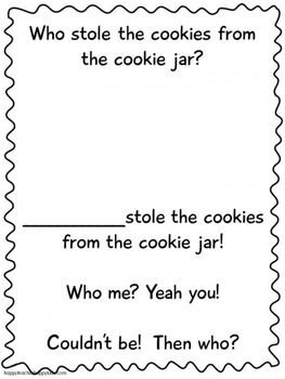 Who Stole The Cookie From The Cookie Jar Book Mesmerizing 14 Best Who Stole The Cookiesfrom The Cookie Jar Images On Design Decoration