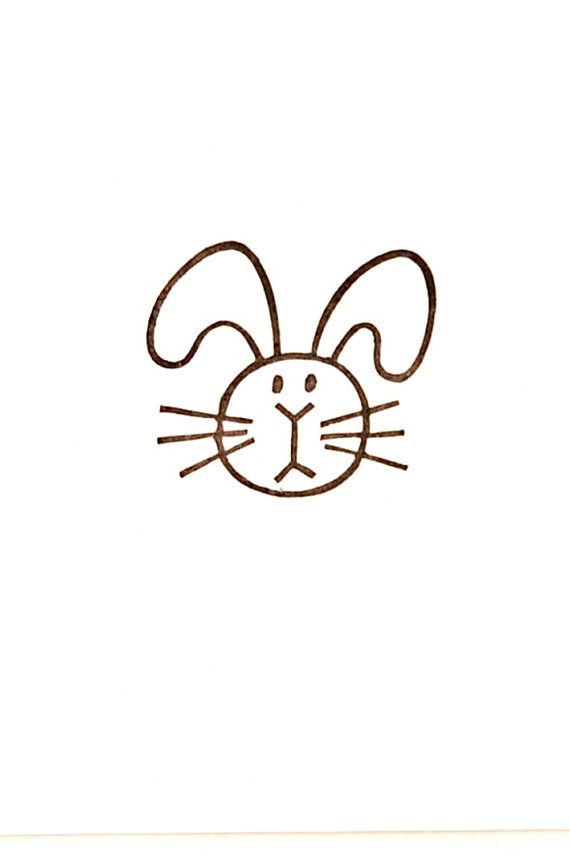 Fat bunny stamp, Easter gift, bunny kids gift, bunny birthday, bunny rabbit, rabbit lover gift, sister gift, cute stationery, runner stamp