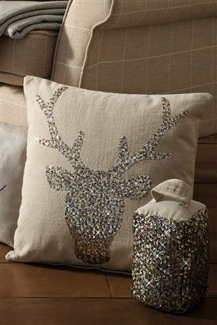 Buy Sequin Stag Cushion from the Next UK online shop