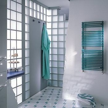 Realisierung Glasbausteine Glassteine Glass Blocks Bad Dusche Duschwände Nassbereiche Glasblokke glas Bouwstenen Dallen Douchewanden Stenen