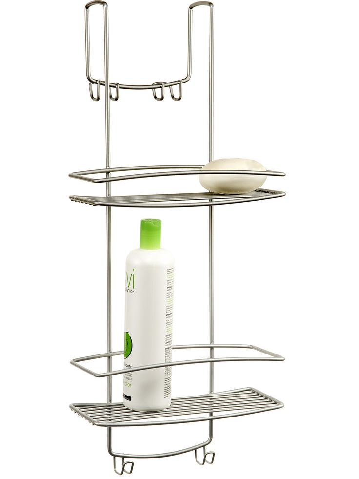 Dorm bathrooms have standard industrial appliances, so a traditional caddy won't fit over the shower head. Problem solved! This sleek caddy hangs over the shower stall door instead! (The Container Store Overdoor Shower Caddy, $29.99, containerstore.com)   - Seventeen.com
