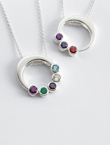 customized circle birthstone pendant in Mother's Day 2013 from Red Envelope on shop.CatalogSpree.com, my personal digital mall.