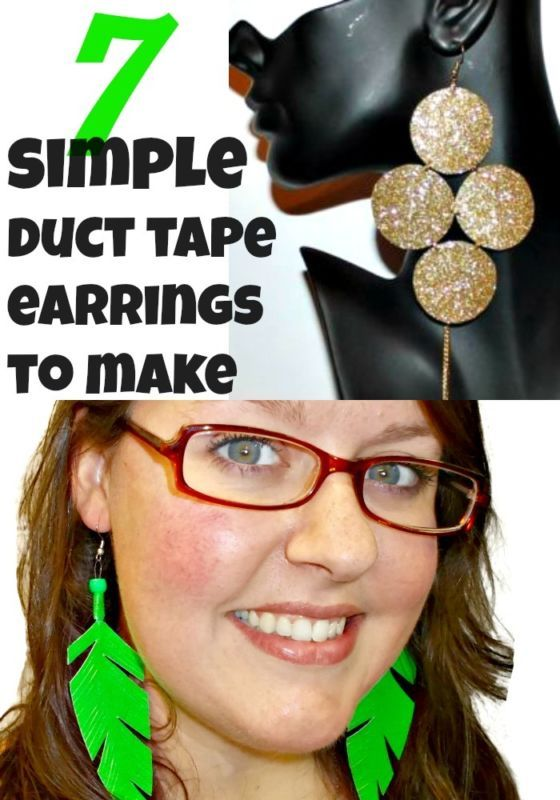 here are some very simple duct tape crafts you can make 7 diy earring
