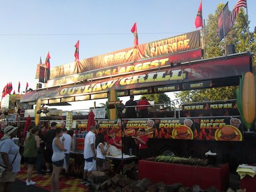 Outlaw grill at the Alameda County Fair