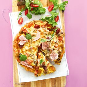 Pizza omelette (low carb,wheat-free)