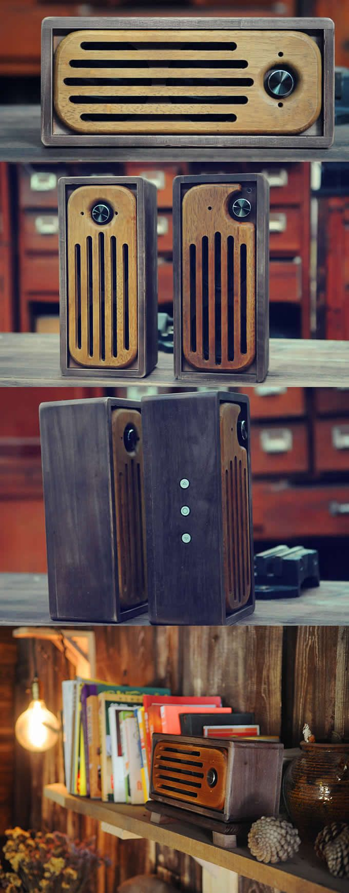 Handmade Wooden Bluetooth Speaker  for iPhone SmartPhone iPad iPod and MP3 Player