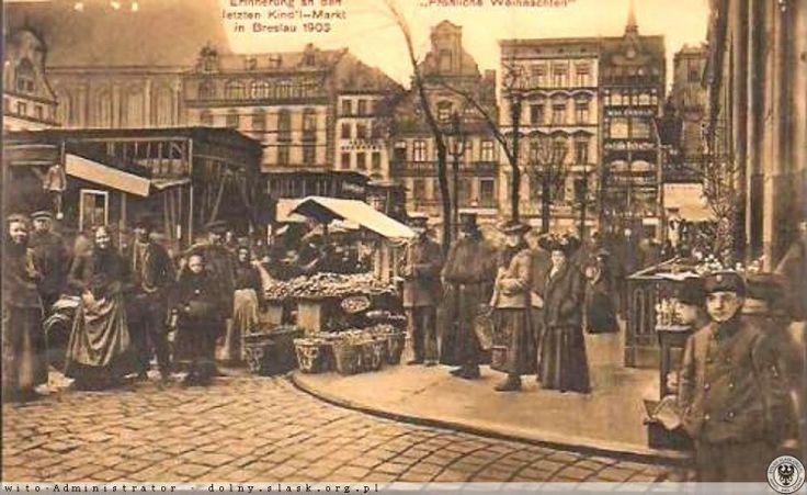 Targ bożonarodzeniowy w Rynku 1903