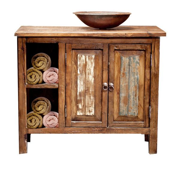Hey, I found this really awesome Etsy listing at https://www.etsy.com/listing/184677622/rustic-bathroom-vanity-with-storage