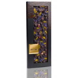 Chocolate Negro ChocoMe con Violeta, Pistachos y Grosellas para #maridar con vino #syrah €9,45