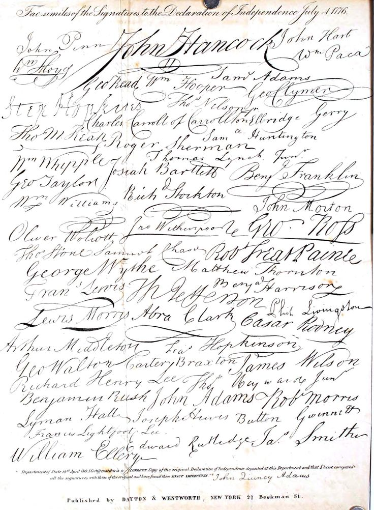 Printed matter – Handwriting – Signature, Dec. of Ind | Vintage Printable