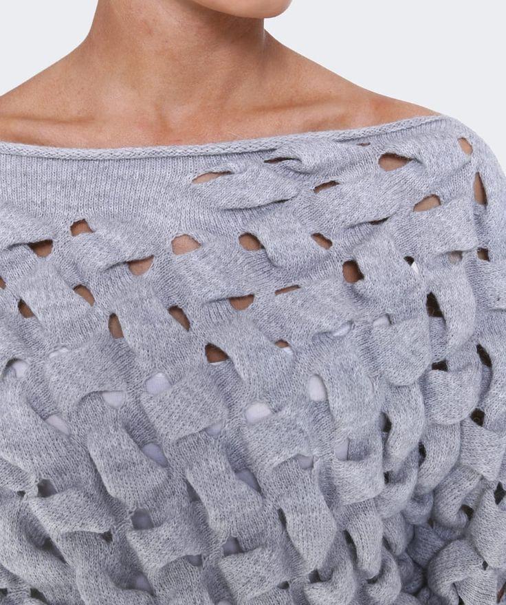 Crea Concept Cropped Bubble Knit Jumper| Jules B