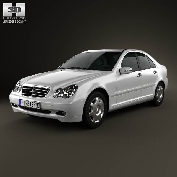 Mercedes-Benz C-class (W203) sedan 2005 3d model from humster3d.com. Price: $75