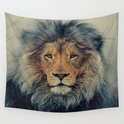 Lion King Wall Tapestry by Urban Underdogs