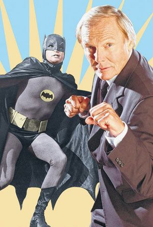 Batman and Adam West