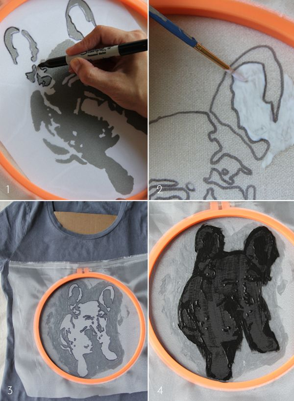 diy screenprinted tee // daily buzz style 9�9 | Lovely Indeed