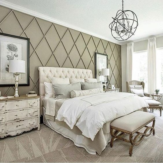 like wall treatment could use in any room wainscoting bedroomwainscoting ideasfeature - Wainscoting Design Ideas