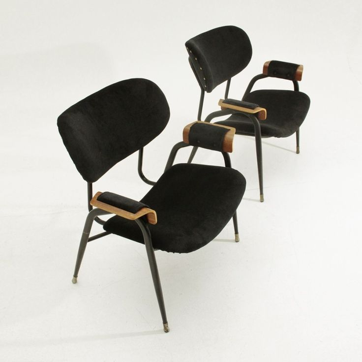 Pair of arm chairs by Gastone Rinaldi for Rima, 1960s