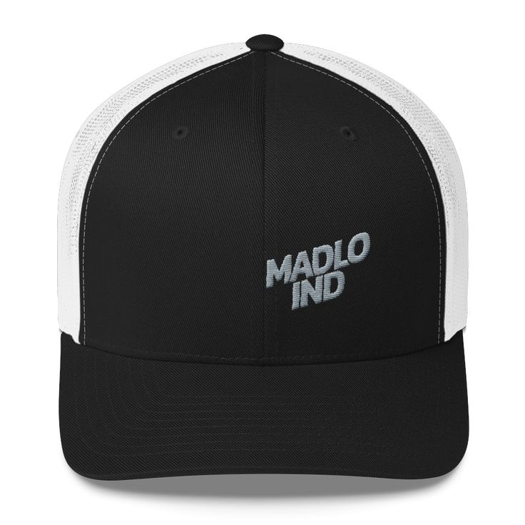 Madlo Industries (Black & White) Trucker Caps