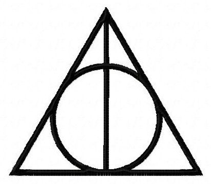 Harry Potter Deathly Hallows symbol machine embroidery design 3 inch instant download by BelsEmbroidery