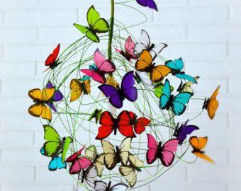 Lámpara de techo con mariposas Tutti por AtLastCraftsbyMatchD