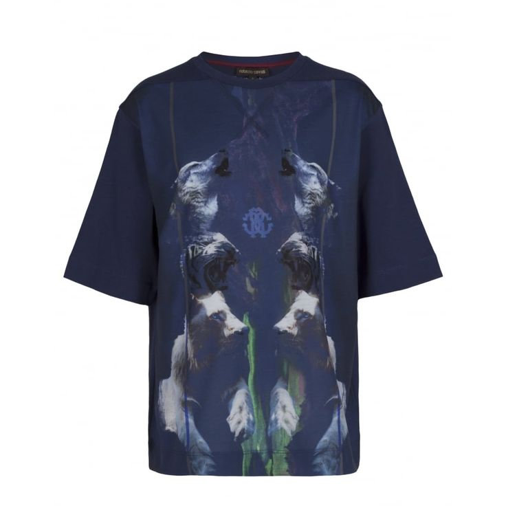 Roberto Cavalli Junior Boys Navy T-Shirt New Childrenswear Autumn/Winter