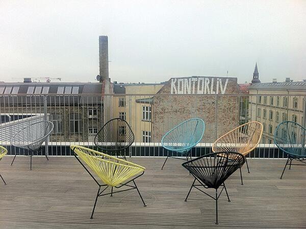 Taking a break from #KEAweek and kontorliv. Good to have rooftop terrace.