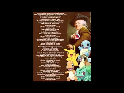 Joseph Ducreux, Pokemon Master.